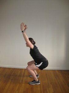 Kate Vidulich NYC Personal Trainer overhead squat