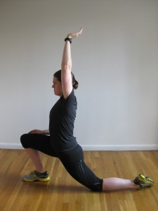Kate Vidulich hip flexor stretch