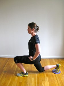Reverse lunge with glider Kate Vidulich