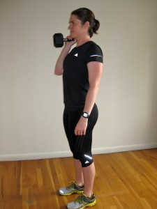 Offset reverse lunge Kate Vidulich