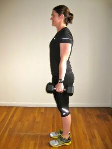 Forward lunge Kate Vidulich