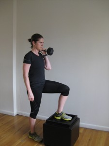 NYC personal trainer offset step up fat loss