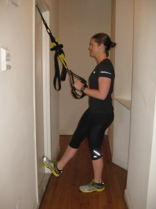 NYC personal trainer TRX single leg squat fat loss